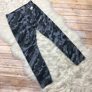 Nike | Abstract Camo Print Workout Capri Leggings